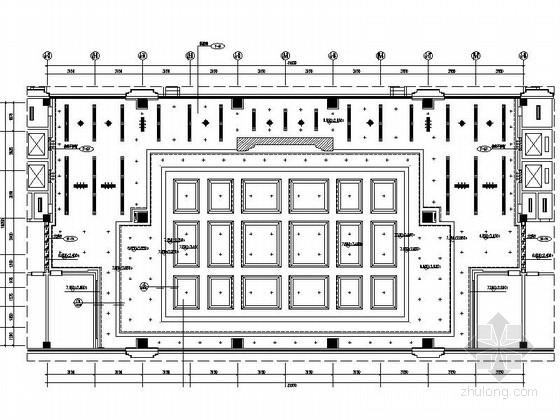 [江西]庄重大气办公楼大堂设计CAD施工图