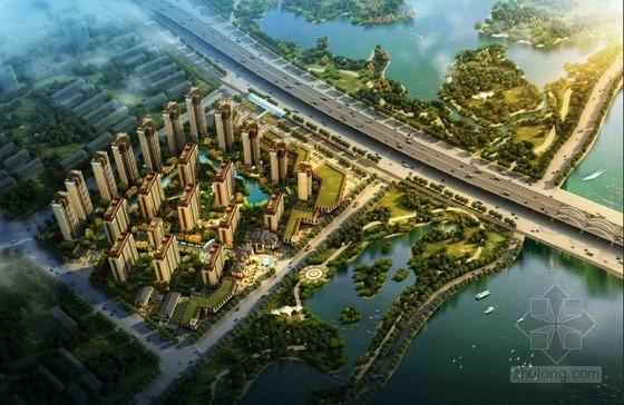 [西安]高档现代artdeco风格塔楼式住宅建筑设计方案文本