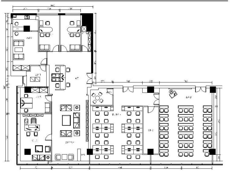 [长春]某证券公司室内设计施工图(含效果图)