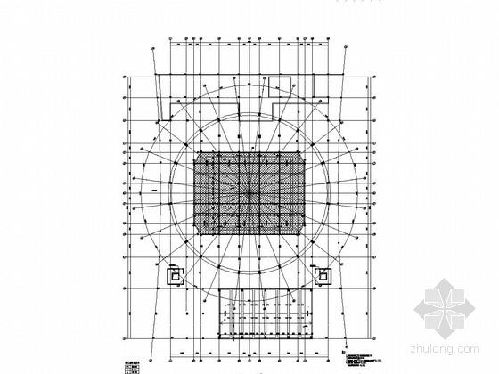 [广东]72米大跨度弦支穹顶结构体育馆结构施工图