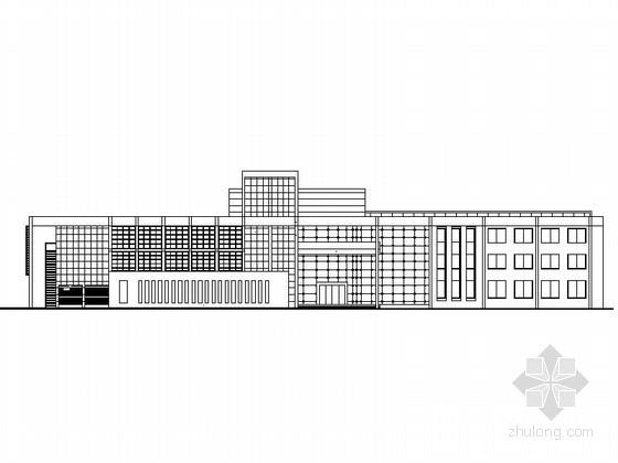 某三层现代办公楼建筑施工图(含效果图)