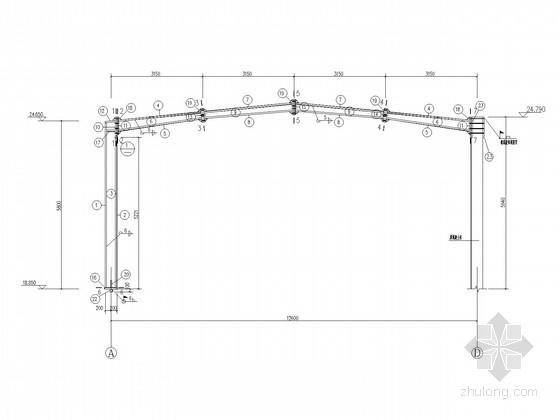 五层框架加建钢结构餐厅施工图