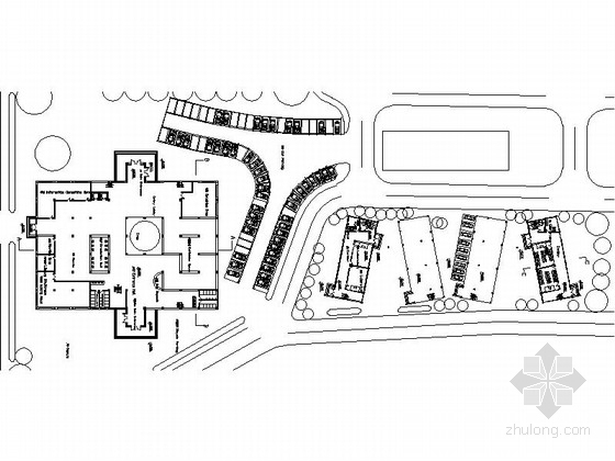 盒子型图书馆及实验楼建筑方案图