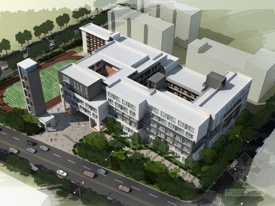 [广东]现代风格42班小学校园规划及教学楼设计方案文本