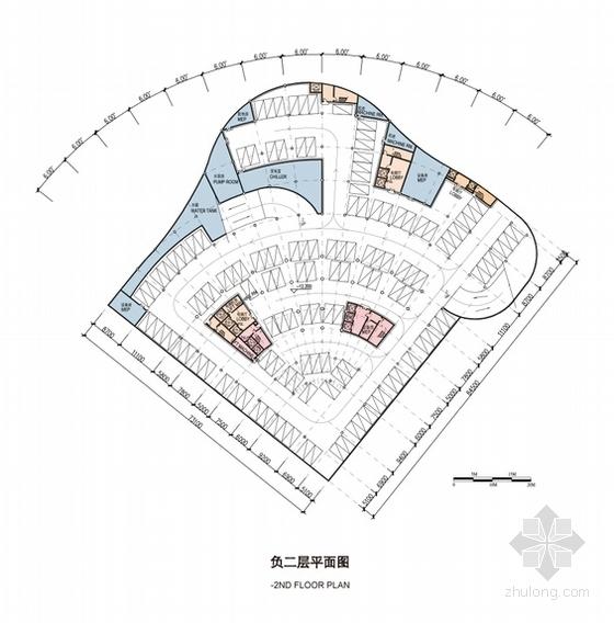 [西宁]超高层框架剪力墙结构五星级酒店建筑设计方案文本(土豪金表皮)-超高层框架剪力墙结构五星级酒店各层平面图
