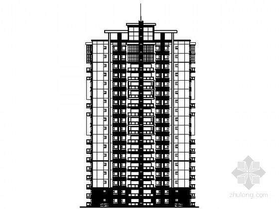 某十八层一梯六户住宅楼建筑扩初图(含效果图)