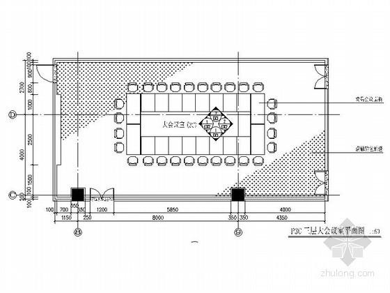 某办公楼三个会议室装修图