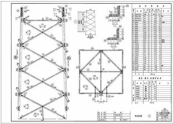 某基站新建61.5米铁塔工程结构图