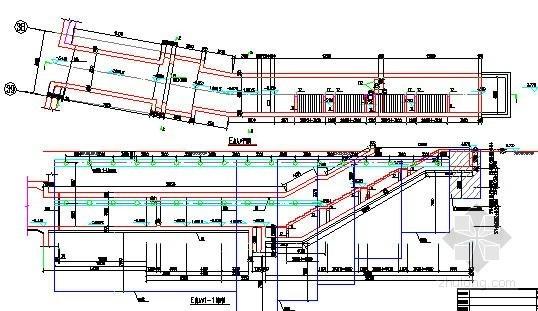 [广东]地铁车站深基坑出入口主体结构设计图