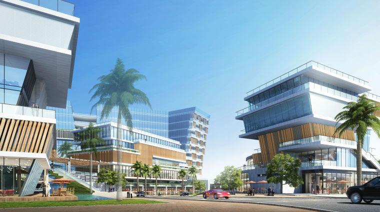 UA城的平凡建筑资料下载-宝投航城工业厂区项目建筑模型(2018年资料)