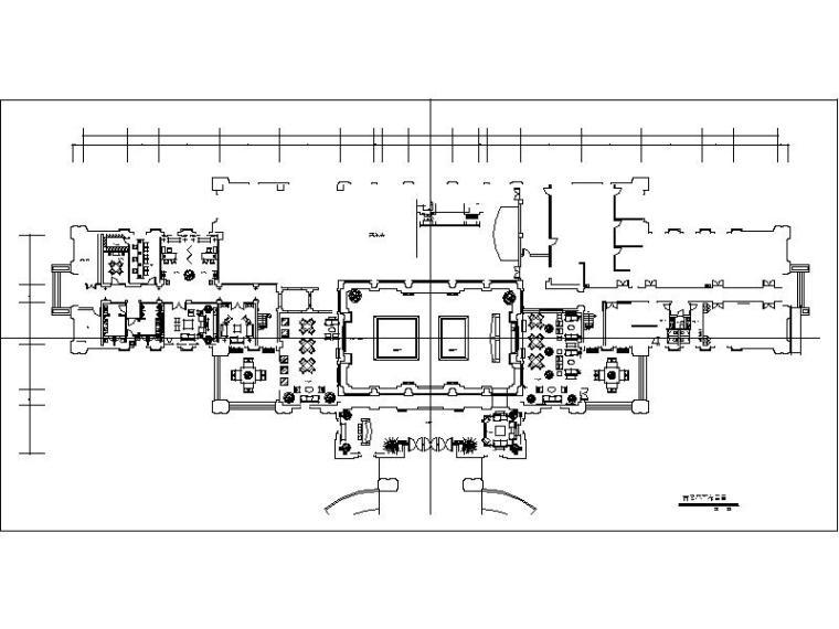 [武汉]欧式新古典售楼处室内设计施工图(含效果图)