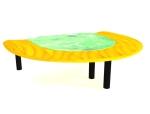 半圆形会议桌3D模型下载