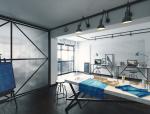 舒适办公空间3D模型下载