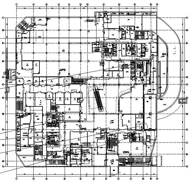 北京大型商业及办公楼电气施工图(含人防)