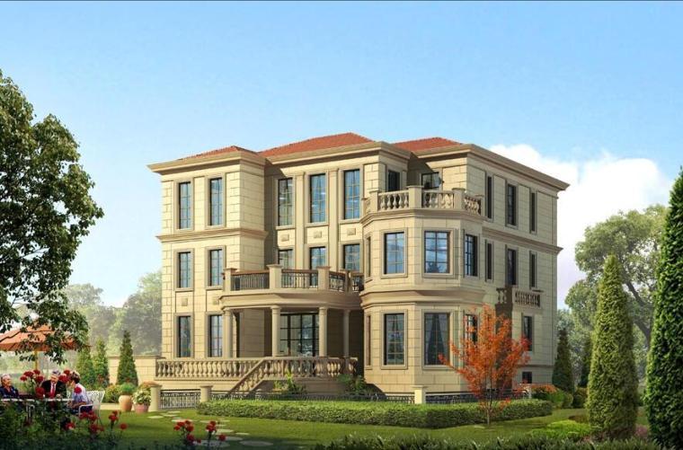 三层独栋别墅设计(框架-剪力墙结构)