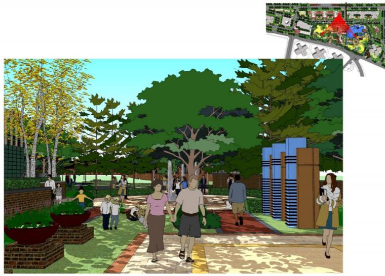 武汉万科城小区景观设计方案_4