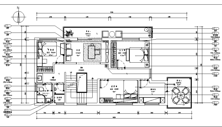 [浙江]现代简约样板房设计施工图(附效果图)