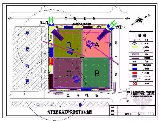 简单四步,教你如何绘制好施工现场总平面布置图