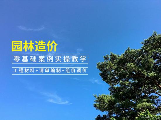 园林造价零基础案例实操教学(工程材料+清单编制+组价调价)