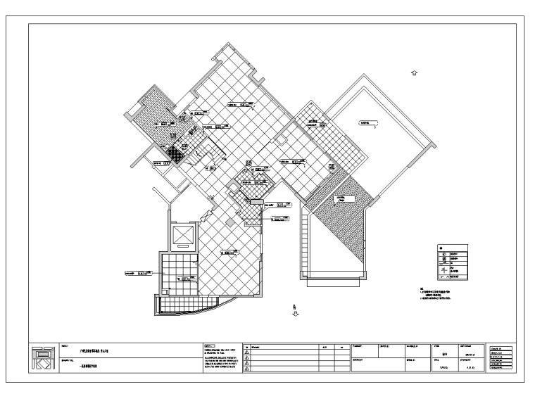 广州凯旋新世界复式户型样板间室内设计施工图