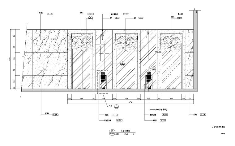 某二层亚洲熟食餐厅室内装修设计施工图(127张图纸)