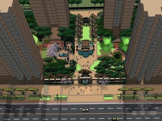 """[青岛]""""柏华帝尔""""风格居住区景观设计方案"""
