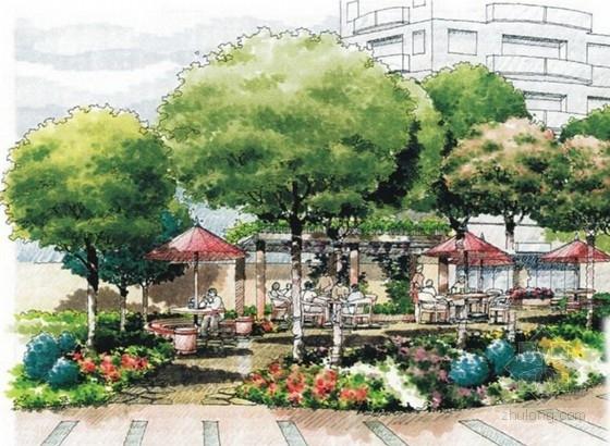 [上海]现代都市时尚住宅规划设计方案-景观效果图