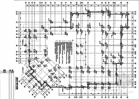 [上海]地上三层框架结构影视基地办公楼结构施工图