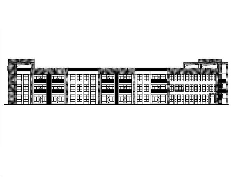 [浙江]三层矩形体块市级幼儿园建筑施工图(含计算书)