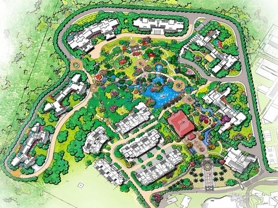 [深圳]欧式皇家园林住宅园林设计方案