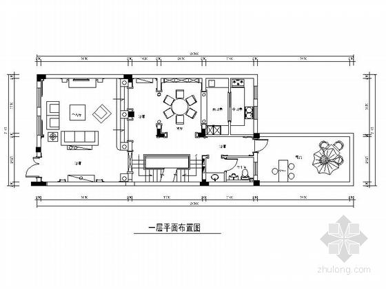 [江苏]精品低密度景观奢华浪漫大气欧式风格别墅装修室内设计施工图(含效果)