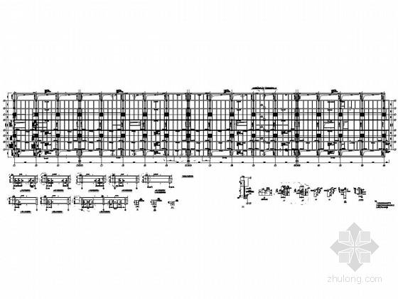 [上海]城市轨道交通车站结构施工图(框架主体钢屋架)