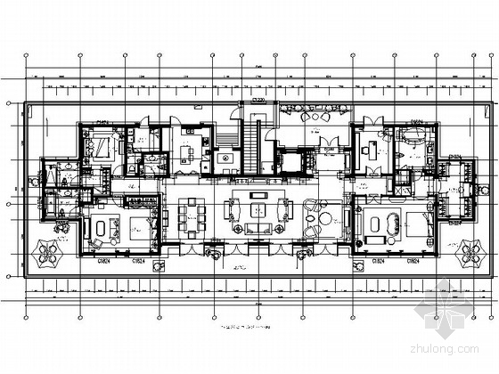 [杭州]欧式顶层大居室样板房设计装修图