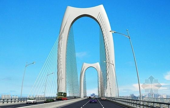 [广西]36.5m宽主跨280m双塔双索面预应力混凝土边主梁斜拉桥设计图纸217张