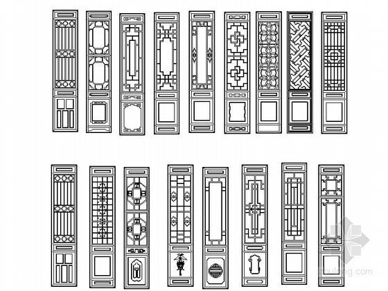 中欧式风格门CAD图块下载