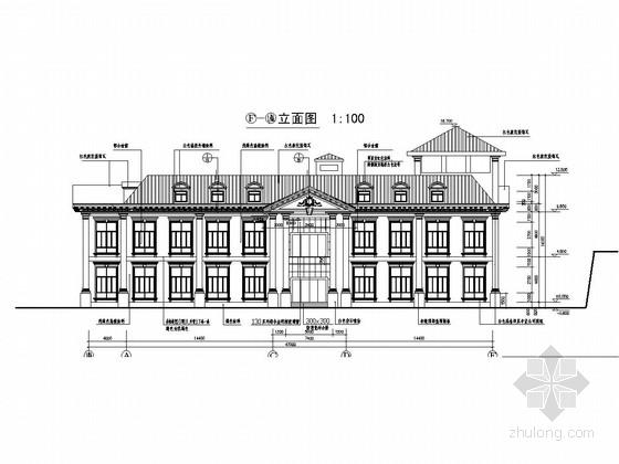 [深圳]两层框架结构职业技术学院食堂结构竣工图