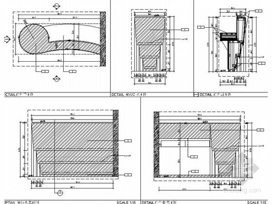 [佛山]现代高端甲级写字楼大小样板间室内装修图(含效果) 前台节点