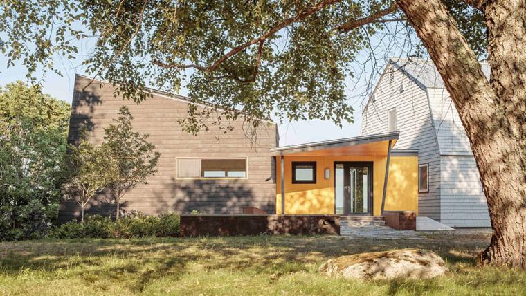 美国现代风格乡村住宅扩建