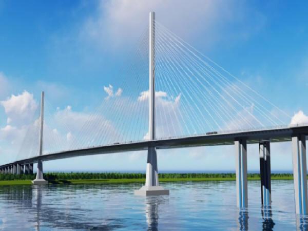 独柱形钢塔双索面钢箱梁斜拉桥在设计阶段的BIM应用