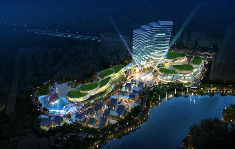 [广东]高层岭南风情商业项目概念方案设计方案文本(含景观设计)
