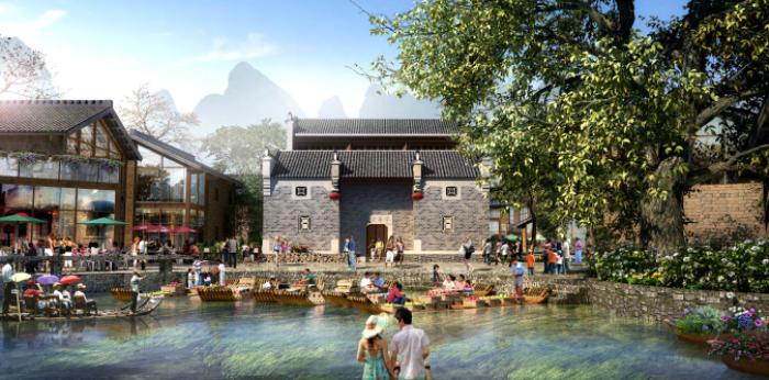 [广西]桂林风情古镇老街乡村景观设计方案(赠项目lumion动画)
