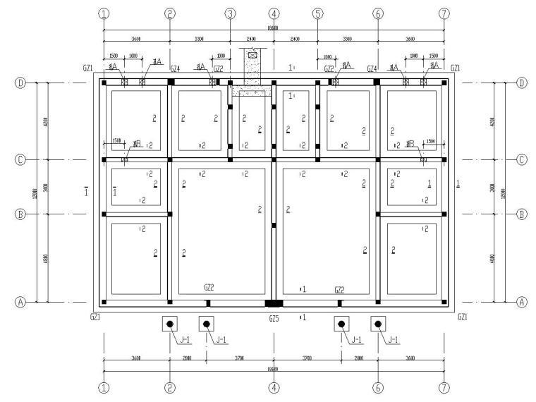 二层砖混结构住宅楼结构施工图