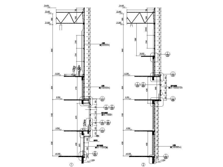 4层科技创新园大楼幕墙节点图