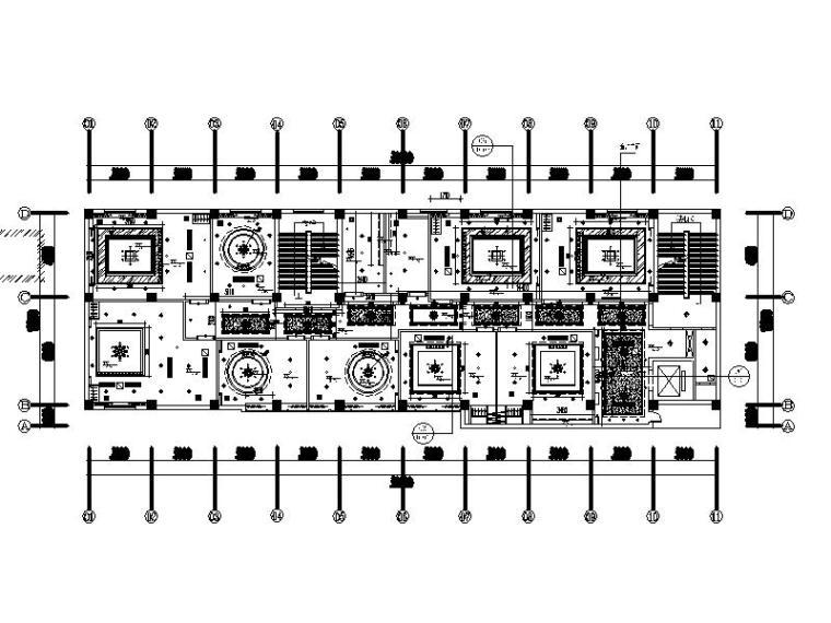 [义乌]新中式别致酒店室内设计施工图(含效果图)