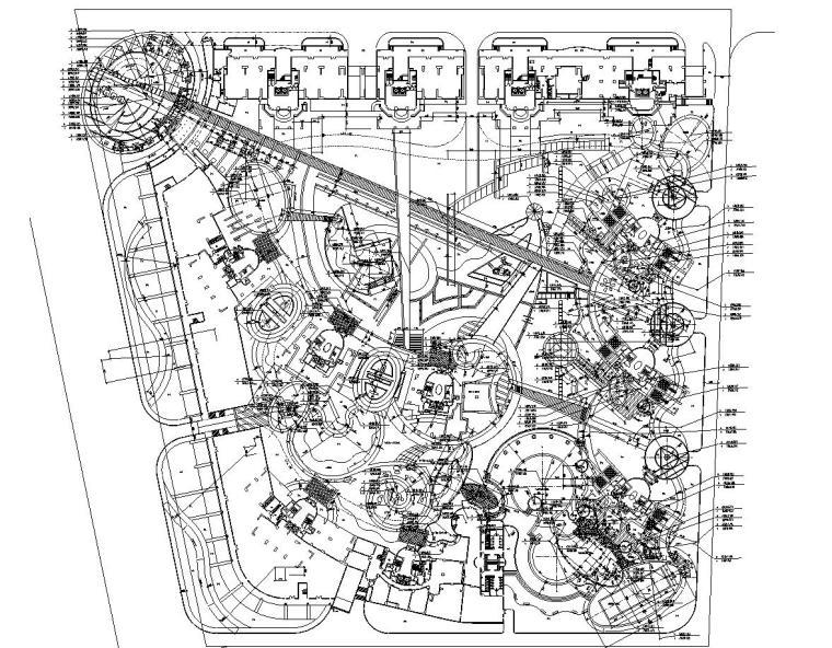 [广东]東城金月灣花園居住区景观设计全套施工图(包含cad+107)