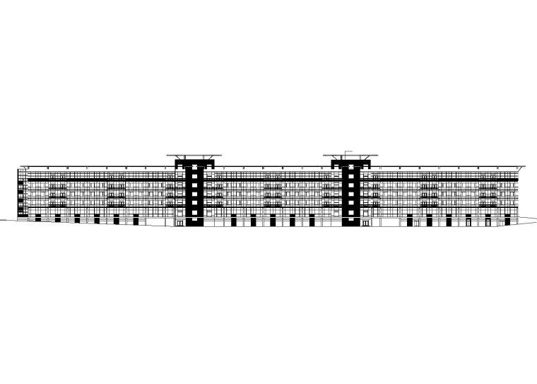 [陕西]西安水晶岛工程酒店式办公楼建筑施工图