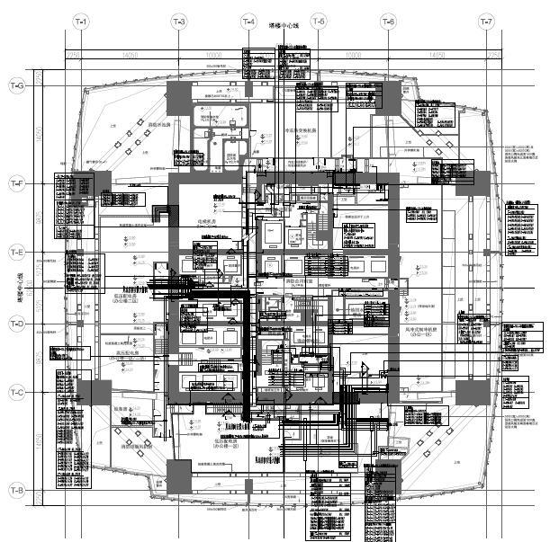 [广州地标]广州东塔大厦(地库、裙楼、办公楼)电气图纸