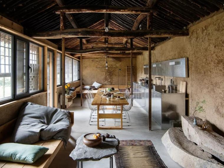 设计师夫妇改造北京 76㎡ 农民房,设计出最返璞归真的侘寂风