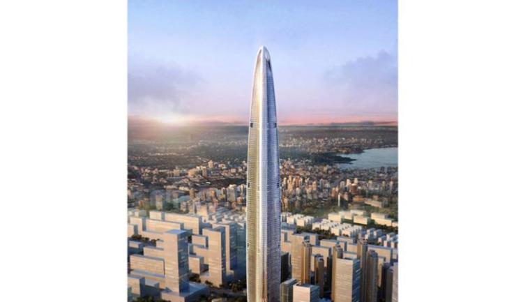 [武汉绿地中心项目]主塔楼筒内钢结构上方硬质防护方案