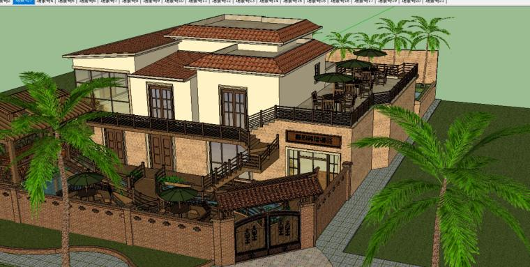 别墅景观设计模型-场景二